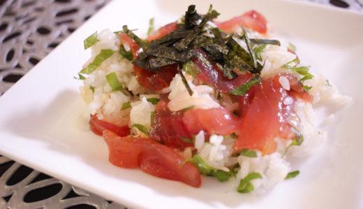 簡単なのにおもてなしにも♪マグロのてごね寿司